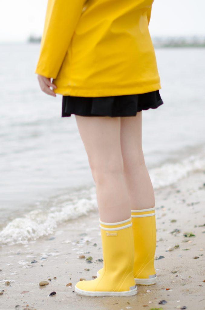Aigle Lolly Pop Gummistiefel gelb Strand