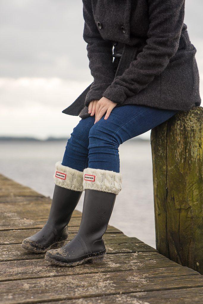 Gummistiefel Hunter Socken Winter 4