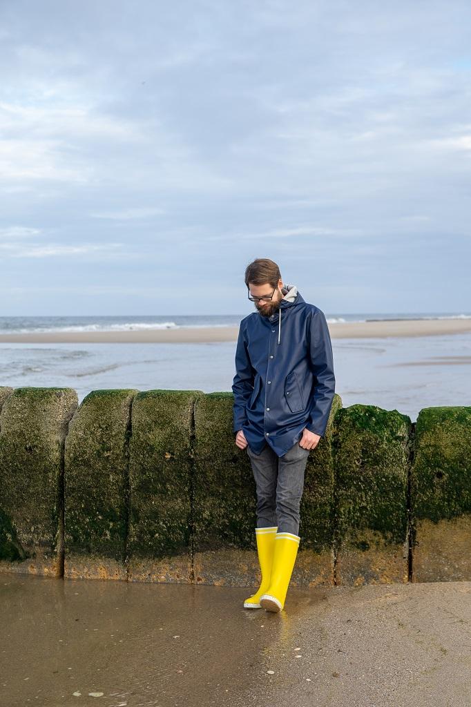 Aigle Goeland Gelb Regenjacke Kiomi Sylt Strand