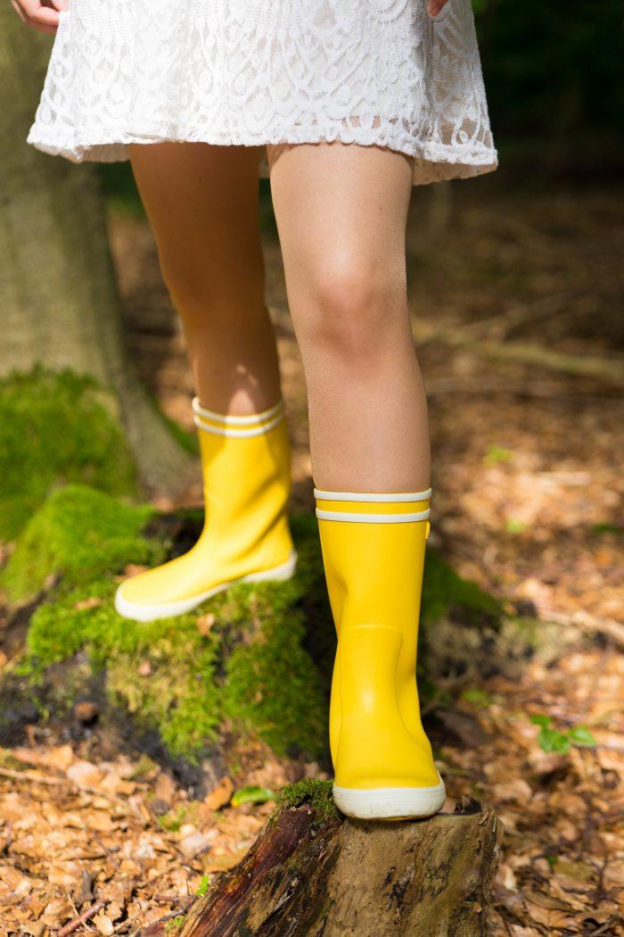 Gummistiefel Kinder Aigle Lolly Pop Gelb Wald