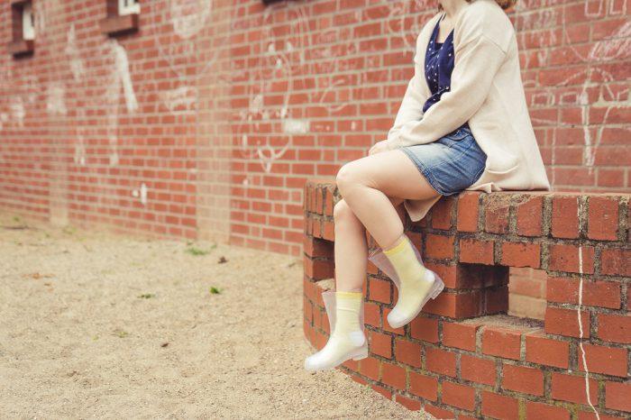 Durchsichtige Gummistiefel Outfit Socken 1