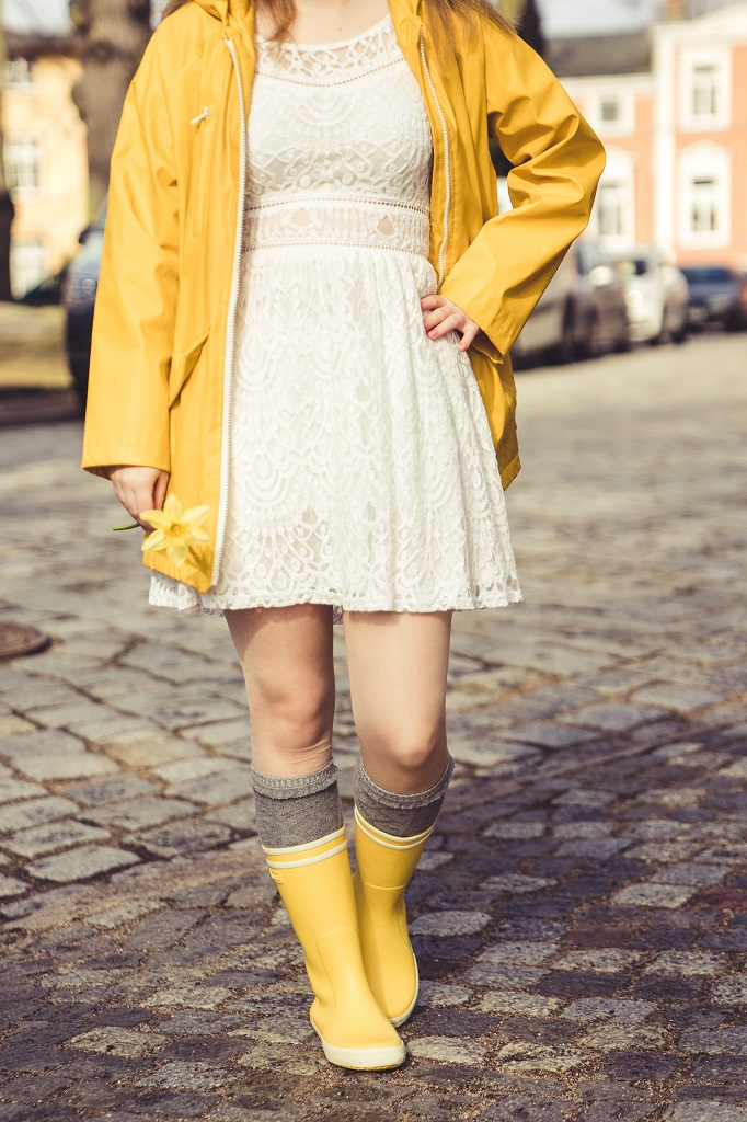 Gummistiefel Frühling Aigle Outfit 2