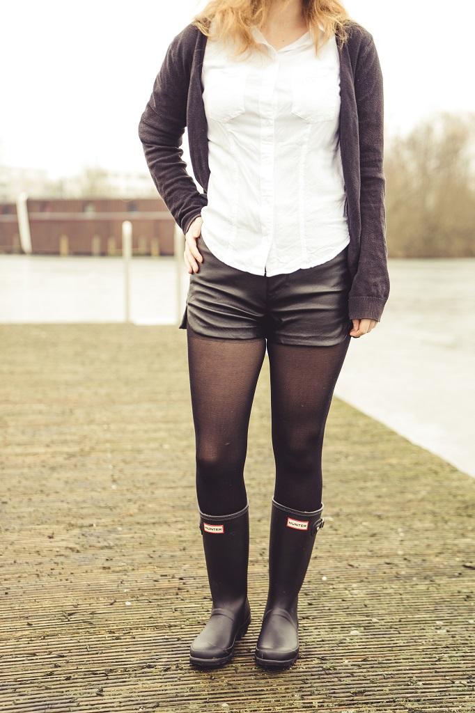 Gummistiefel Frühling Hunter Outfit Leder