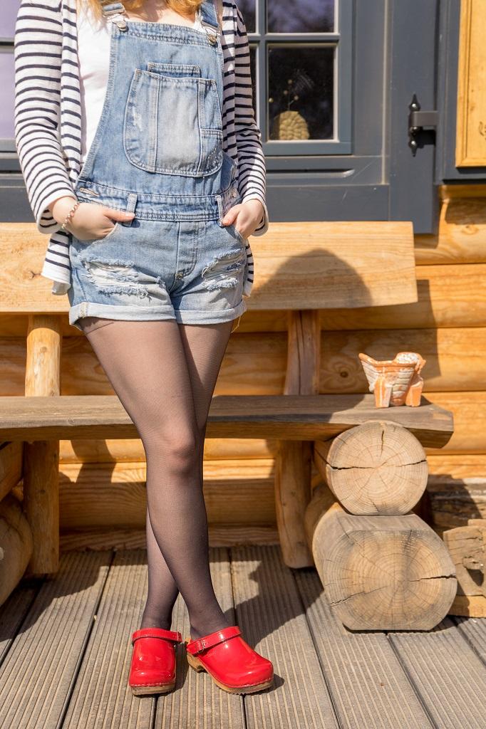 Holzclogs Clogs Sanita Frühling Outfit 1