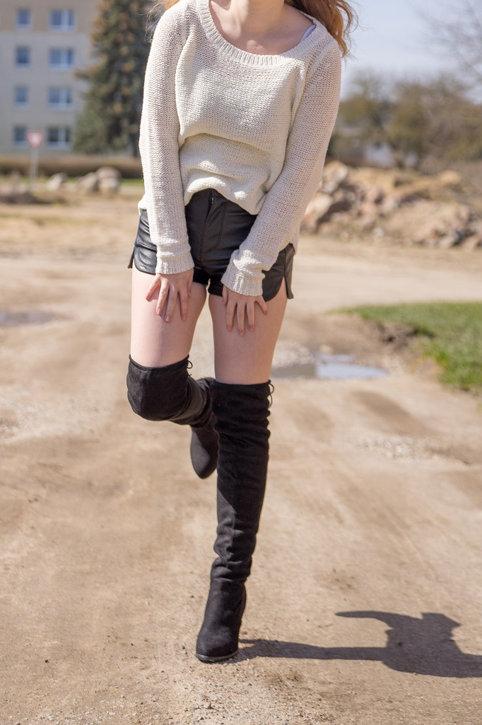 Overknee Stiefel Outfit Frühling 1