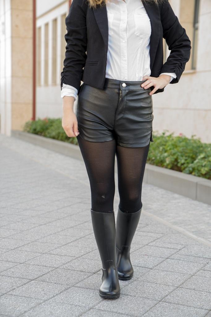 Gummistiefel im Büro Outfit Meduse 1