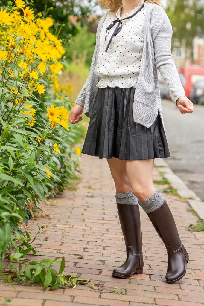 Gummistiefel im Herbst Reitstiefel