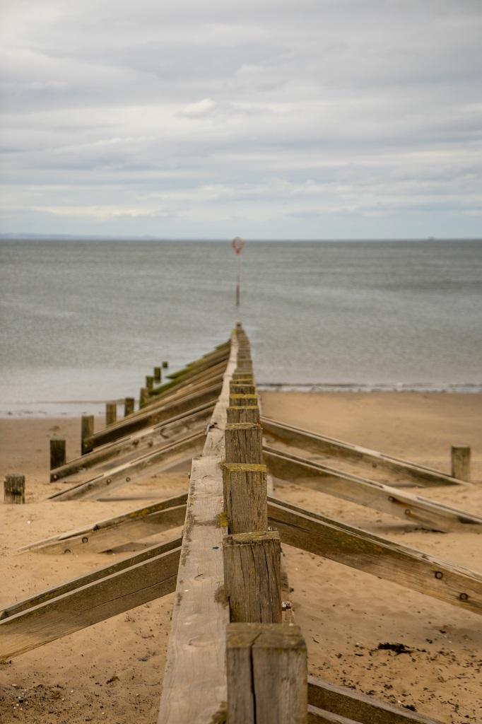 Schottland Edinburgh Portobello Beach Wellenbrecher