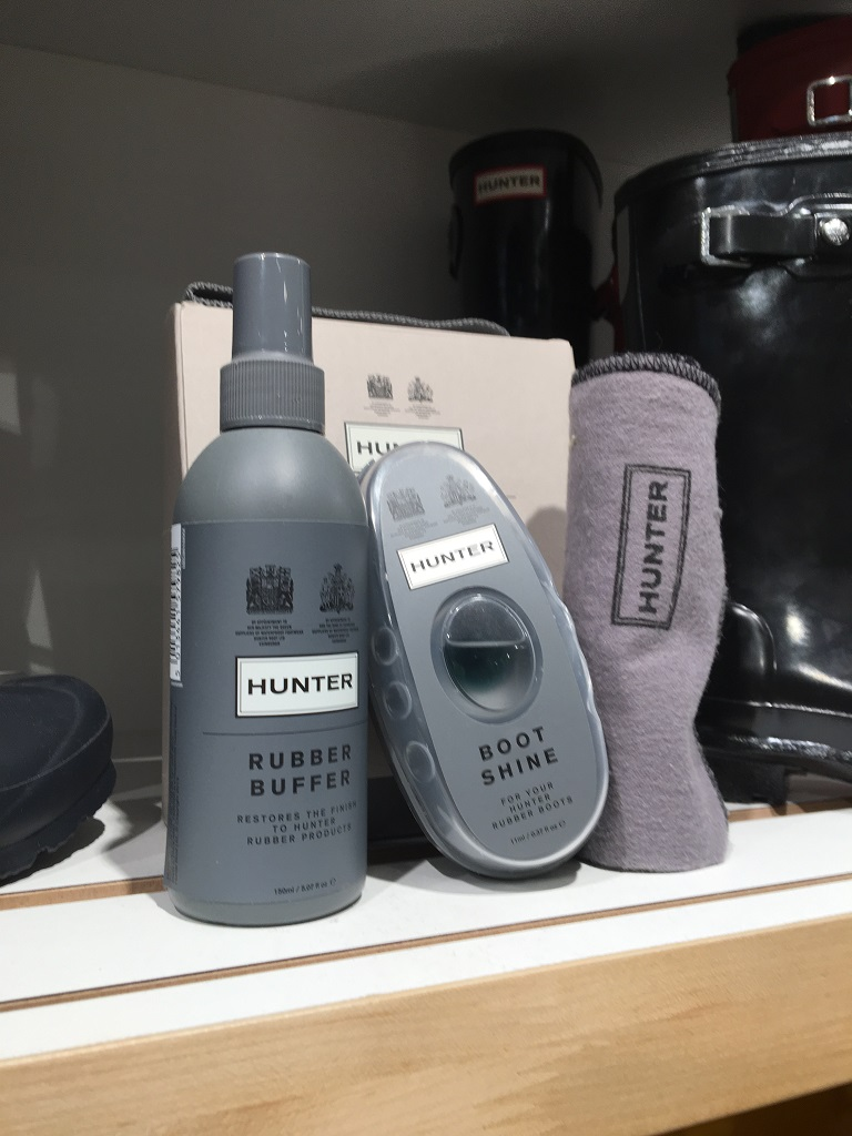 Gummistiefel reinigen Hunter Set