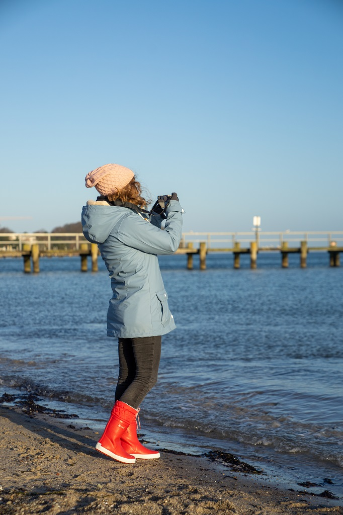 Aigle Giboulee Gummistiefel gefüttert Kinder Strand Ostsee