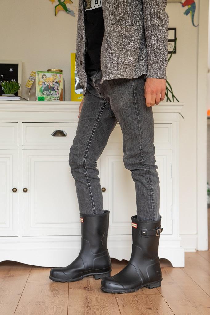 Hunter Short Gummistiefel Outfit Herren