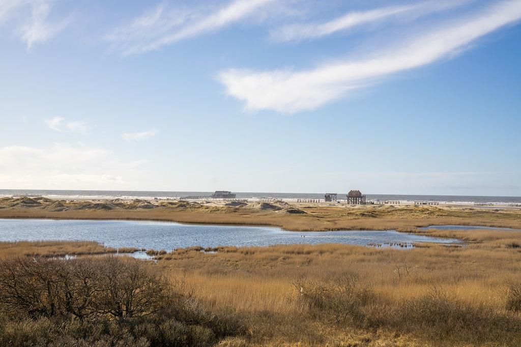 St Peter Ording Dünen Nordsee Stelzenbau