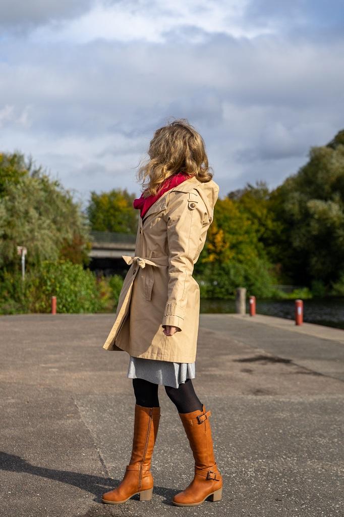 Andypola Absatz Stiefel Untergröße Trenchcoat