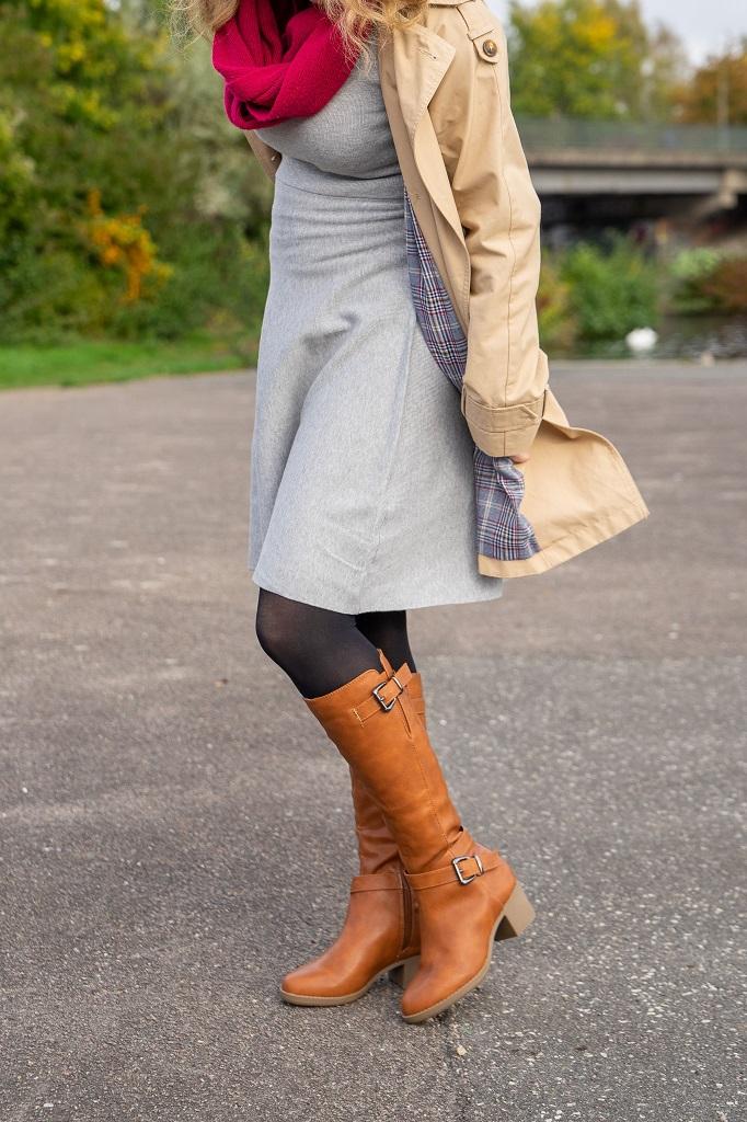 Andypola Stiefel Untergröße Herbst Winter Kleid