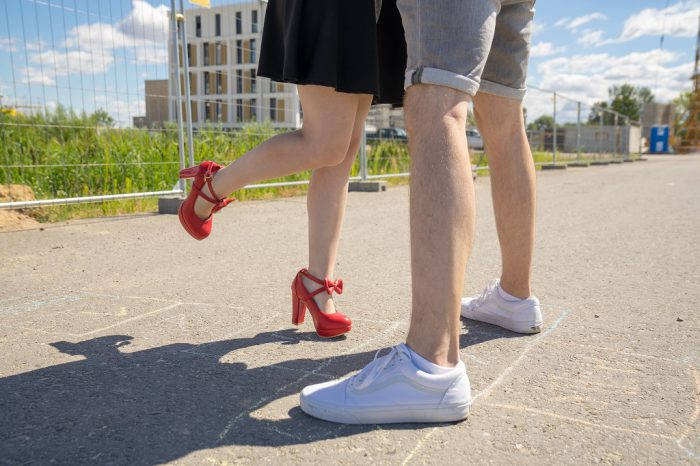 Pumps in Untergrößen Schuhe High Heels Rot