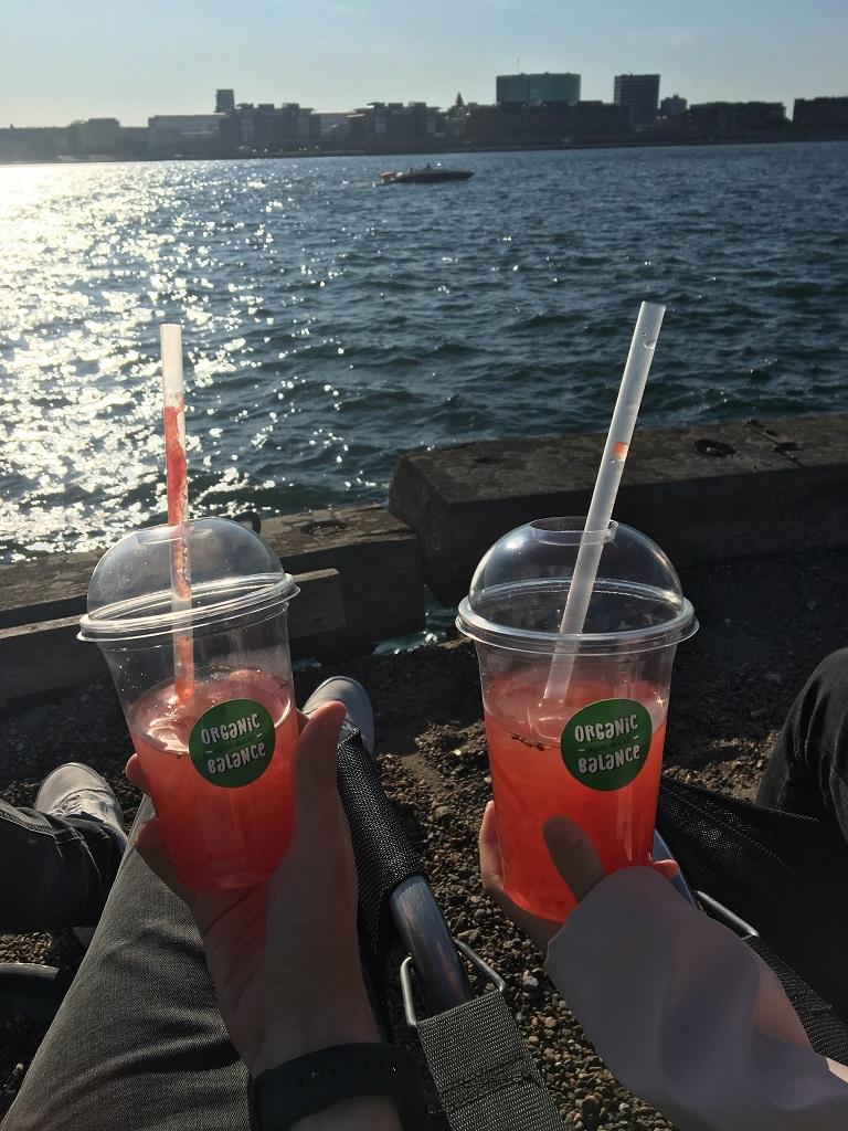Dänemark Kopenhagen Reffen Wassermelonen Getränk