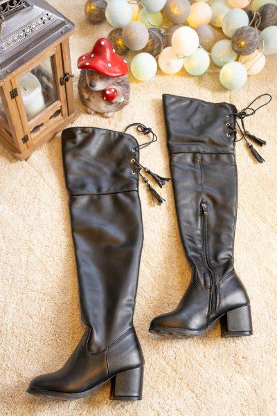 Overkneestiefel Schuhe Untergröße Ebay 1