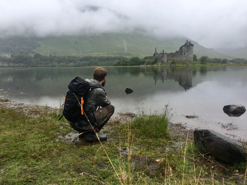 Gummistiefel beim Wandern Wandergummistiefel Schottland Highlands