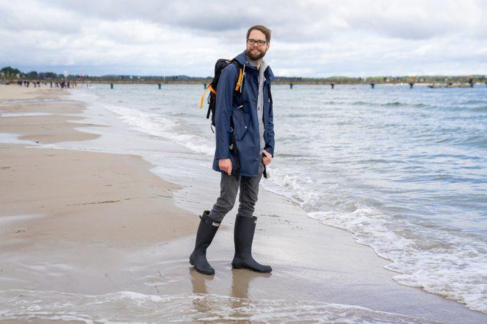 Barbour Bede Gummistiefel Ostsee Strand Meer