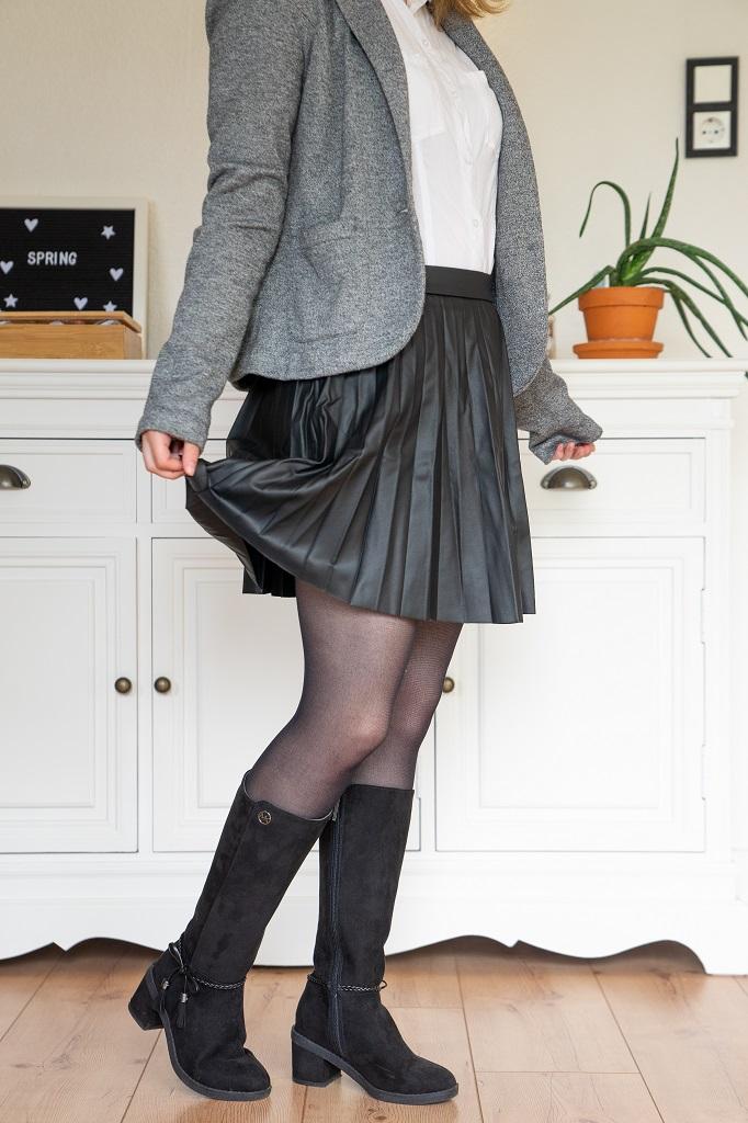 Schuhe Untergrößen Büro Hohe Stiefel Absatz