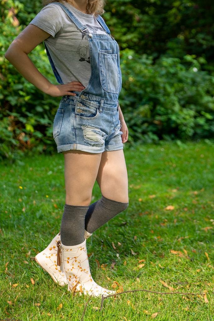 Bisgaard Fashion Gummistiefel Outfit Overknee Socken
