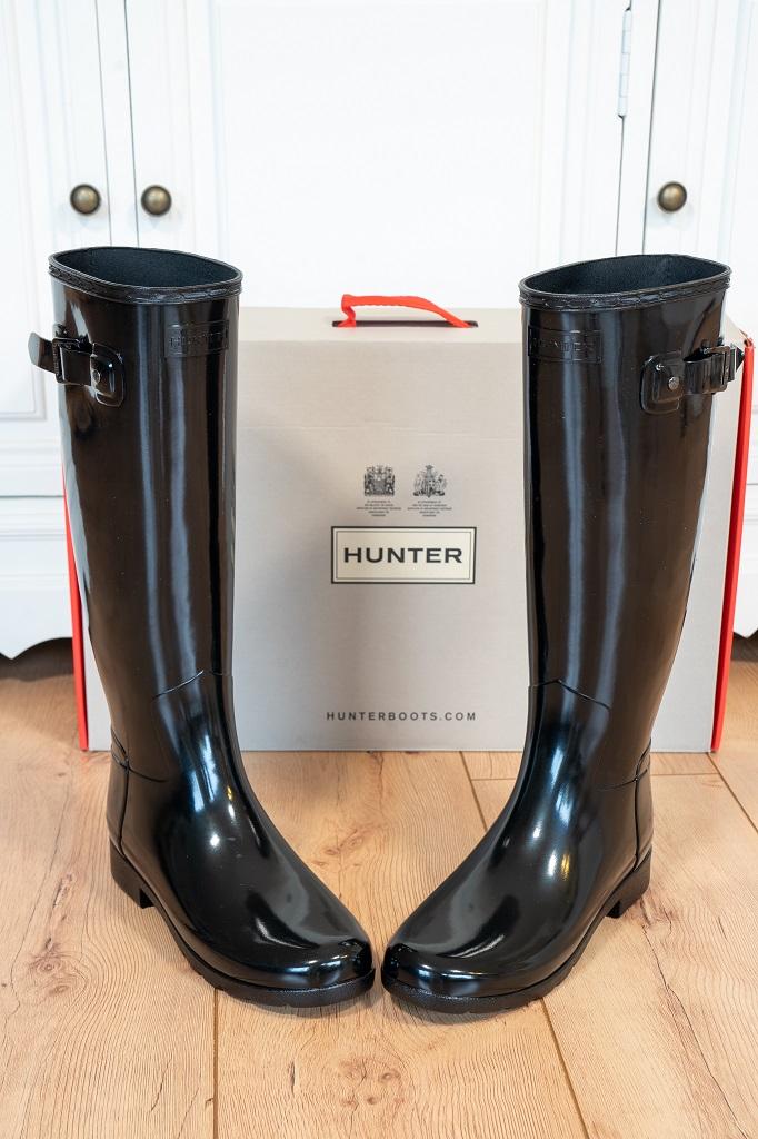 Hunter Refined Gloss Damen Boots Stiefel