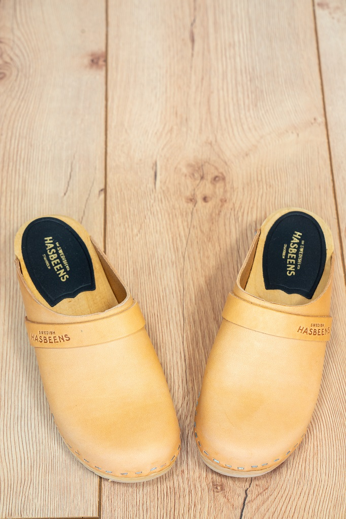 Swedish Hasbeens Holzclogs Damen