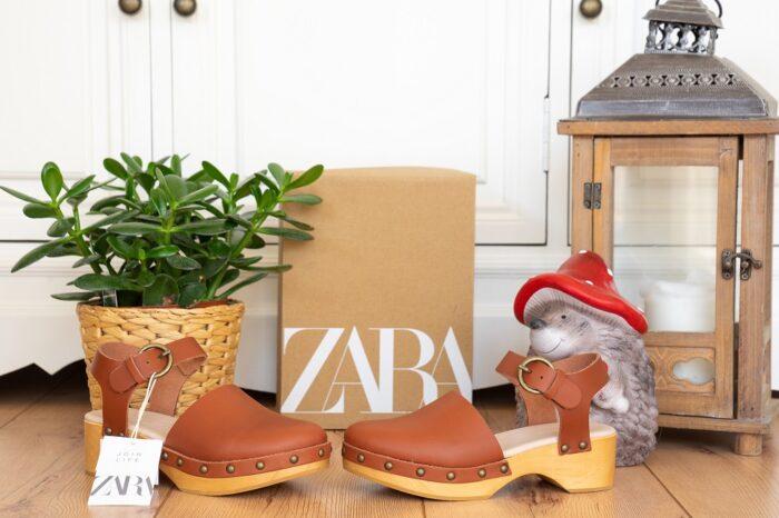 Zara Clogs Holz Mary Jane Herbst 2021