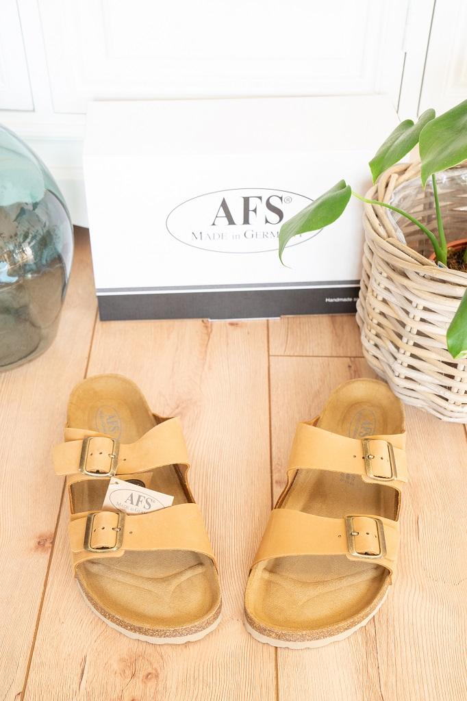 AFS-Schuhe Pantoletten Herren Kork Leder