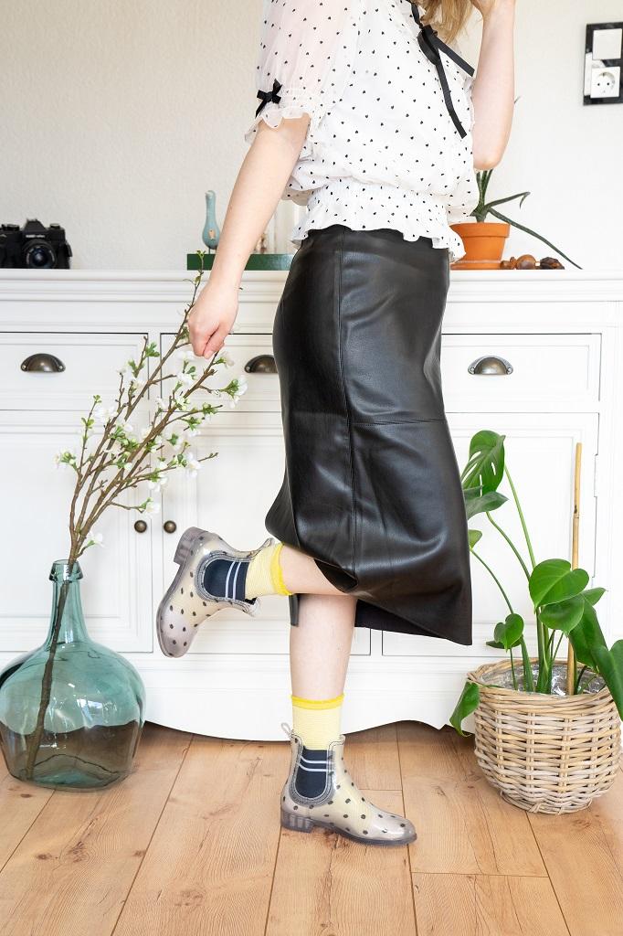 Lemon Jelly durchsichtige Gummistiefeletten Chelsea Boots