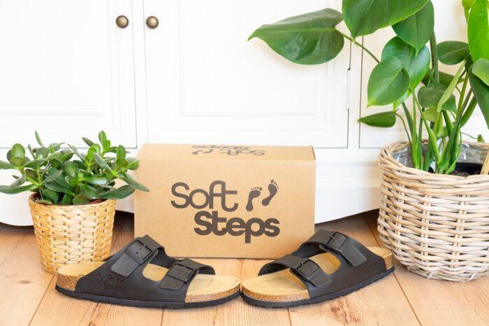 Soft Steps Pantoletten Weichbettung Birkenstock Alternative