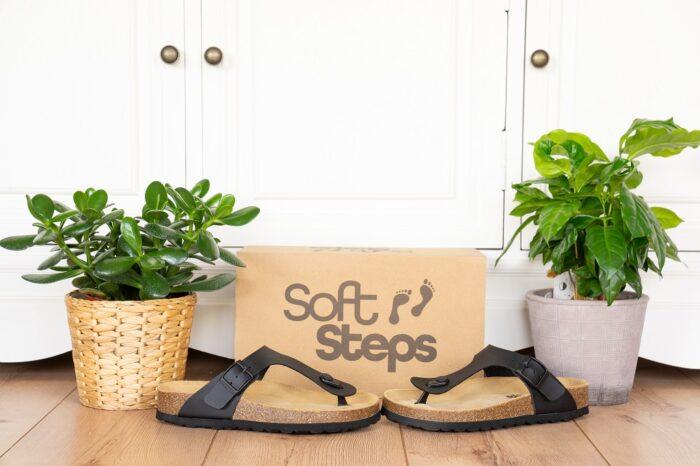 SoftSteps Zehentrenner Damen Zehenstegsandalen