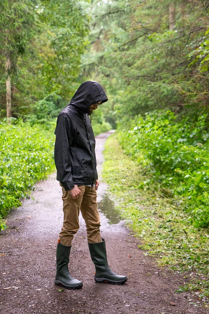 Viking Elk Hunter Light Gummistiefel Outfit Wald Wandern
